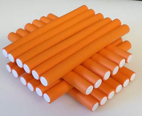 Papilotten - Flex-Wickler Set 24 Stck. + Kosmetiktasche - 17 mm orange (von deutschem Friseurbedarf-Fachhändler!)