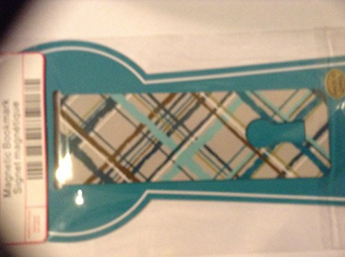 Thirty One Magnetic Bookmark in Sea Plaid