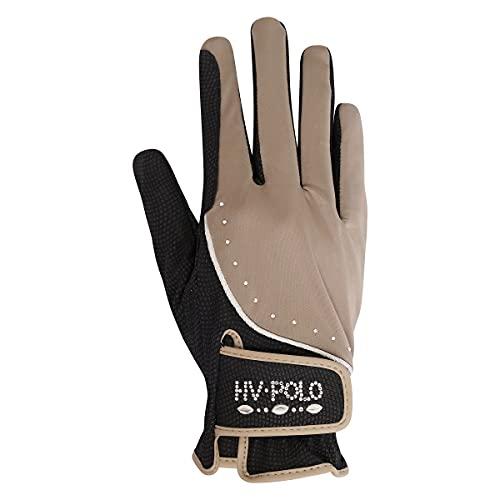 HV Polo Handschuhe HVPWayomi mit Strass (S, Taupe)