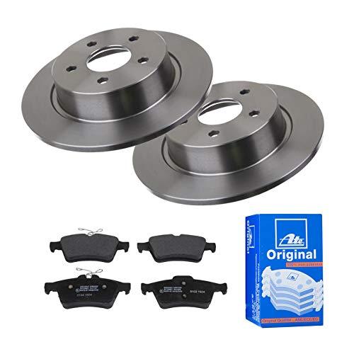 2 Bremsscheiben Ø280 Voll + Bremsbeläge ATE Hinten P-A-02-00407 Bremsanlage
