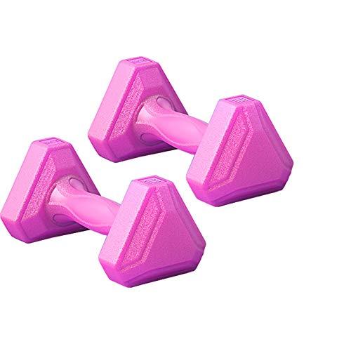 manubri palestra triangolari LYRWISHLTD Manubri triangolari Manubri in Ferro Pieno Manubri Antiscivolo Palestra Fitness Pesi a Mano Allenamento Corpo Manubri da 2 libbre