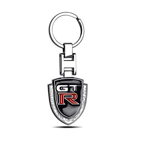 ASTAOT Schlüsselbund,Schlüsselanhänger,Auto Mode 3D Metall GTR Abzeichen Emblem Auto Schlüssel Kette Keyfob Für Nissan GTR Skyline Kawasaki R32 R34 R351400 Auto Anhänger