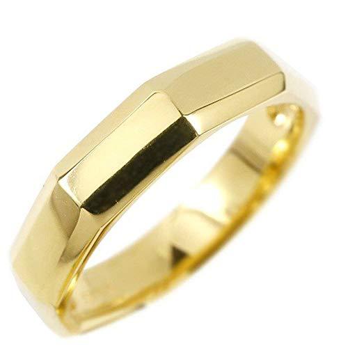 [アトラス]Atrus リング メンズ 10金 イエローゴールドk10 ストレート 地金 指輪 ピンキーリング 15号