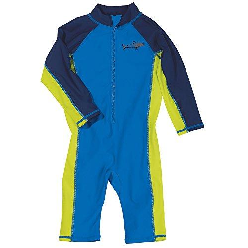 Sun Smarties Baby Boy UPF 50+ Shark One Piece Coverall Surf Suit Sunsuit 6M Blue