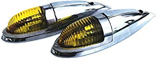 Officek ナマズマーカー ナマズランプ 大 ガラスレンズ 12v 24v 2個Set イエロー 黄色 サイドマーカー レトロ デコトラ トラック野郎