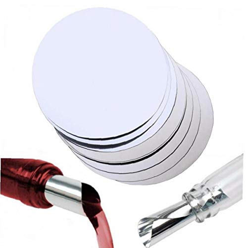 Amoyer Discos de Papel de Aluminio Vino Vertedor Drop Stop Vino Tinto Vertedor Disc Los Discos Flexibles Drip Drop Stop Vino vierte los canalones del Banquete de Boda del Bar