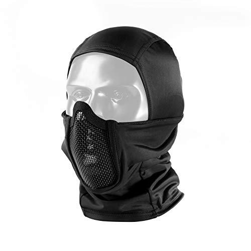 OneTigris Balaclava Mesh Mask Ninja Style with Full Face Protection (Black)