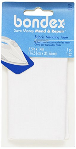Wrights 230002030B Iron-On Mending Fabric 6-1/2'X14'-White