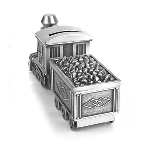 qazwsx Hucha de Regalo Caja de Almacenamiento multifunción en Forma de Tren de carbón, Se Puede Abrir la Tapa Superior de los Bancos de Monedas Seguros, Tarro para Ahorrar Dinero para niños Creativ