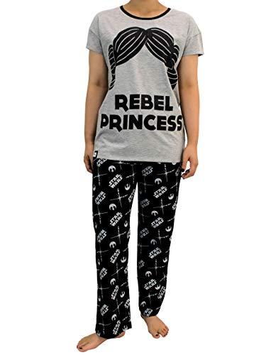 Star Wars Pijama para Mujer La Guerra de Las Galaxias Gris XX-Large