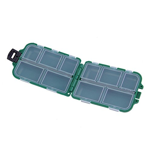 FJTANG Fishing Tackle Box Mine Plastic Portable Bait Storage Containers for Storing Swivels Jigs Hooks Sinker