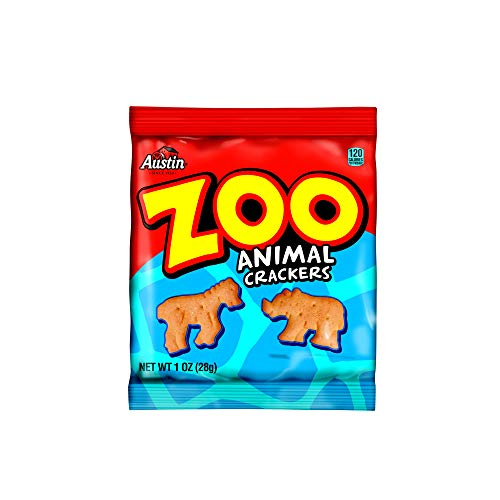 Kellogg's Austin Zoo Animal Crackers, 1 Ounce (Pack of 100)