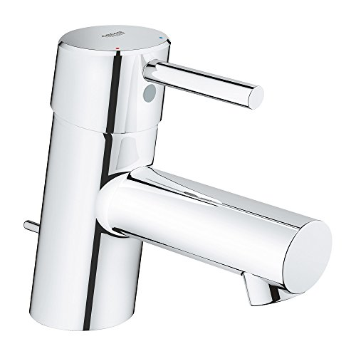 Grohe 34702001 Concetto Single-Handle Bathroom Faucet XS-Size with Drain Assembly in Starlight Chrome