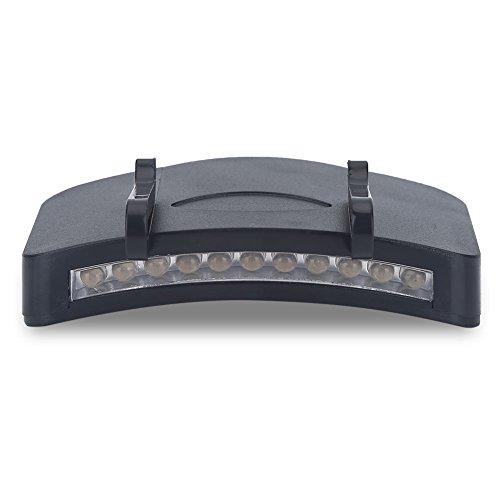 Linterna para Gorra Clip Faro, 11-LED Luz Casco con Clip para Camping Pesca