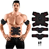 HURRISE Electroestimulador Muscular Abdominales, EMS Portátil Entrenador Muscular con USB, Abdomen/Brazo/Piernas/Cintura Masajeador Eléctrico Cinturón, 15 Niveles de Intensidad (Hombre/Mujer)