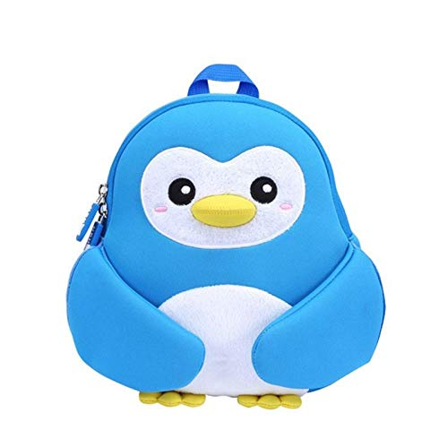 YLJY School bag kindergarten backpack Novol Christmas penguin children's bag baby cartoon backpack male girl diving package (Color : Blue)