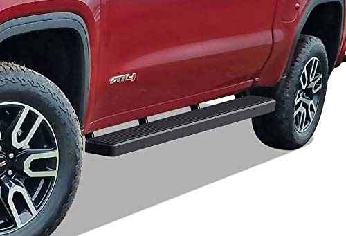 APS iBoard Running Boards (Nerf Bars Step) Compatible with Chevy Silverado GMC Sierra 1500 2019-2021 Crew Cab & Silverado Sierra 2500 3500 2020-2021 (Exclude 19 1500 LD) (Black Powder Coated 5in)