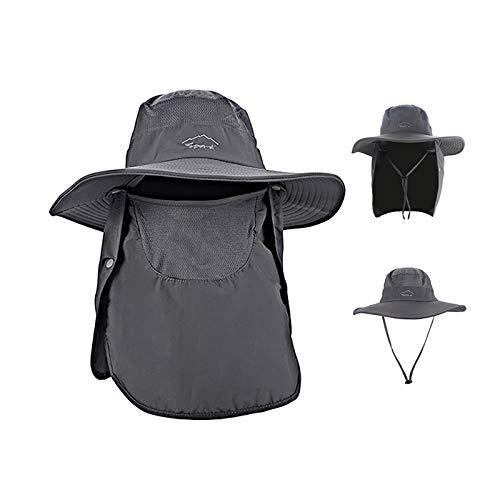 Sun Hat Summer Outdoor Quick-Drying Sun Protection Fisherman Hat Fishing Hat for Men & Women Dark Grey