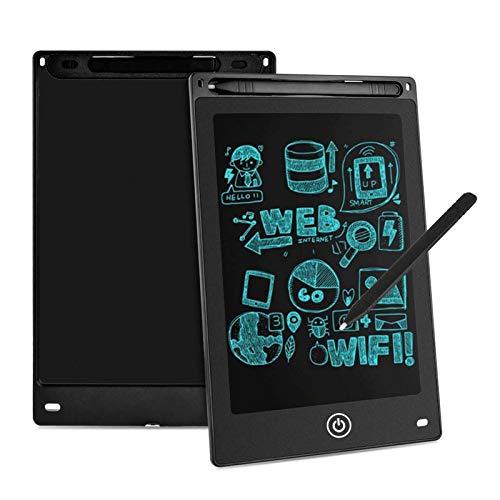 Aigoss LCD Schreibtafel 8,5 Zoll Elektronische Schreibtabletts Grafiktabletts Löschbare Zeichnung Graffiti Board Notepad mit Anti-Clearance Funktion und Stift Kinder Spielzeug Geschenk - Schwarz