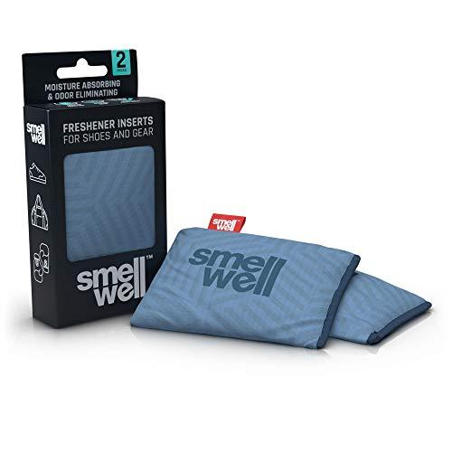 SmellWell Trocknungs- und Erfrischungskissen für Schuhe, Sporttaschen oder sogar das Auto - versetzt mit einem frischen Duft (Geometric Grey)