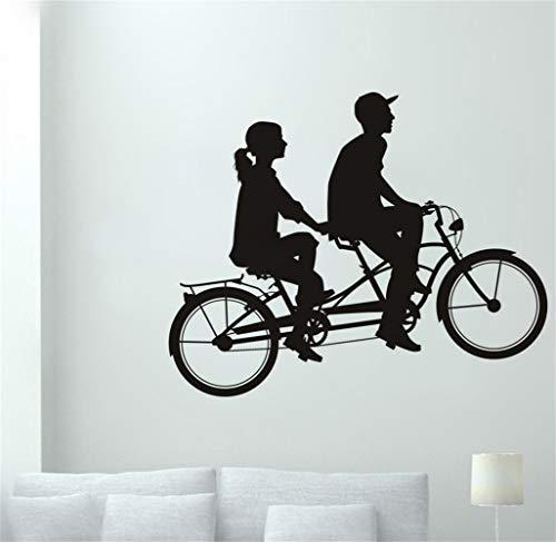 wandaufkleber 3d Wandaufkleber Schlafzimmer Liebhaber Fahrrad Aufkleber Tandem Fahrrad Radfahren Auto Aufkleber Poster Wanddekor Wandaufkleber für wohnzimmer