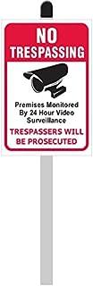 "Señal de PVC con Texto en inglés""No Trespass/Trespassers Will Be Enjuiciad"" (8"" de Ancho x 12"" DE Alto) en 36 cm de Largo,..."