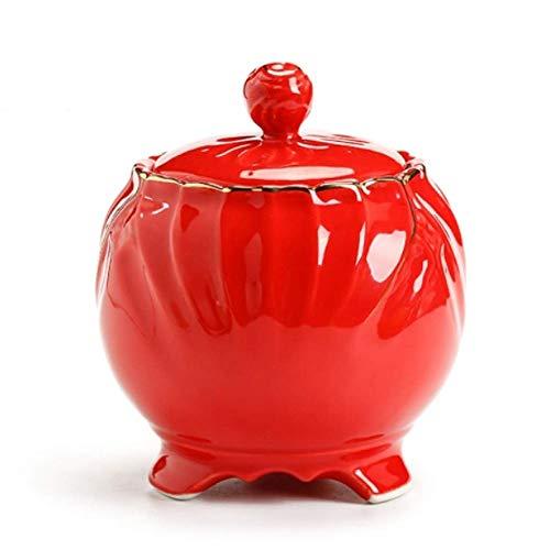 Bandeja de Almacenamiento de alimentos Cookie Jar cerámica, cerámica contenedores de almacenamiento de alimentos, Cocina Copa botes, Cerámica frasco sellado tarro de cerámica del pote del té del hogar