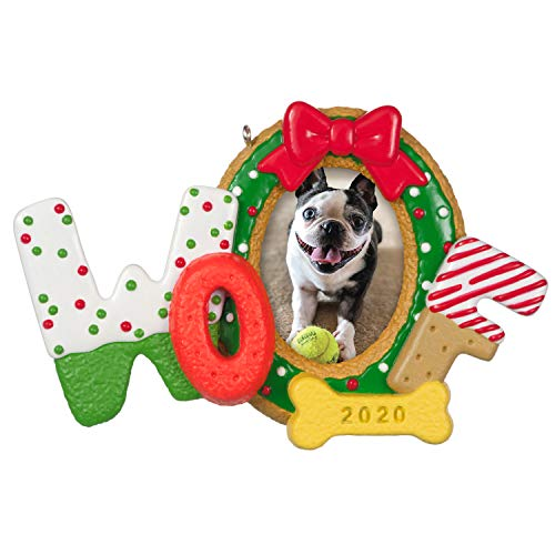 Hallmark Keepsake Ornament 2020 Year-Dated, Woofy Christmas Dog Photo Frame