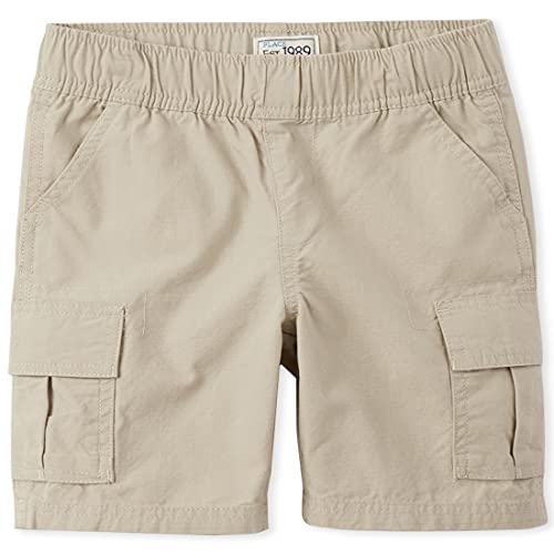 The Children's Place Boys' Pull-on Cargo Short, Sand Wash, 14