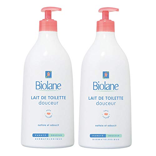 Biolane Lot de 2 lait de toilette douceur - 750 ml