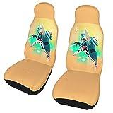 機動戦士ガンダム (1) フロント カー用品(2前部座席) 座席カバー カーシート 汎用 運転席 助手席 防塵 汚れ防止 幅広い互換性があり、ほとんどの座席に適しています。例えば、自動車、Suv、トラックなど。サイズ:138*52 Cm