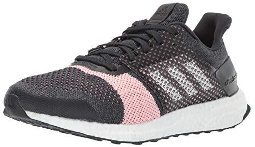 adidas Women's Ultraboost ST, Carbon/White/Grey, 8 M US