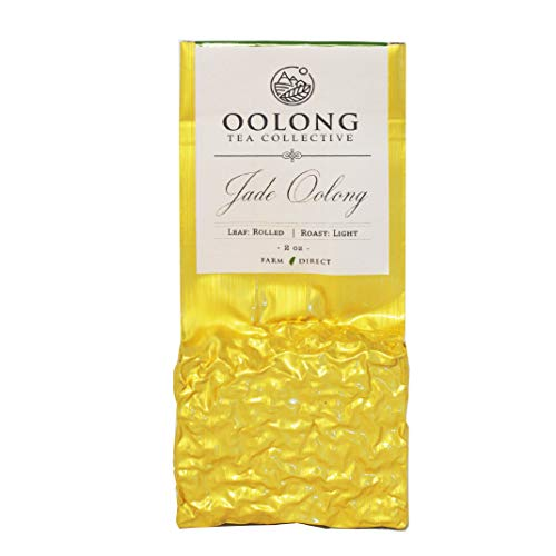 Jade Oolong Tea (20 Cups) - 2020 Fresh Harvest - No Added Flavors - 100% Natural Loose Leaf Tea from Taiwan High Mountain - Tea Gift, Hot Tea, Iced Tea, Milk Tea - By Oolong Tea Collective (2oz)