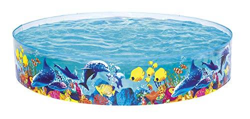 Bestway FILL \'N FUN Odyssey Pool, Pool rund für Kinder, mit buntem Unterwasser-Design, 244x46 cm
