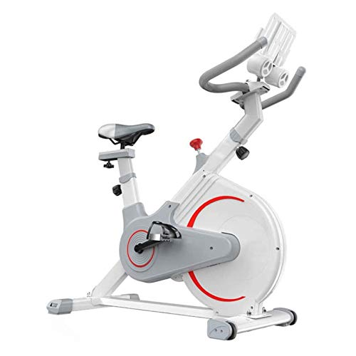 Bicicleta de ejercicio, bicicleta de ciclismo interior plegable, bicicleta estacionaria Resistencia magnética Susurro silencioso para el hogar cardio entrenamiento pesado volante y cómodo asiento cojí
