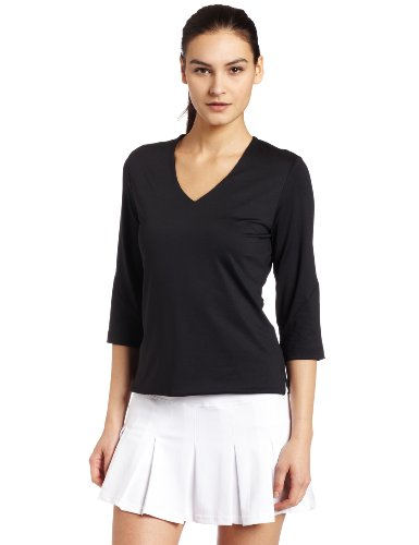 Bollé - Tennis-T-Shirts für Damen in Schwarz, Größe L