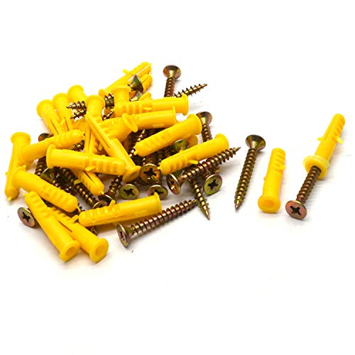 Antrader Self-Tapping Anchors with Flathead Screws, 8mm-1.6' 25 Sets