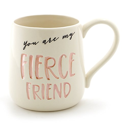 "Enesco ""Fierce Friend"" Stoneware Engraved Coffee Mug"