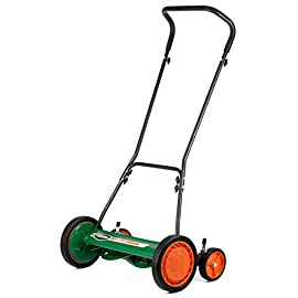 "Scotts Outdoor Power Tools 2000-20S 20-Inch 5-Blade Classic Push Reel Lawn Mower, Green 1 Classic Scotts 20 inch push no-motor manual reel rotary lawn mower features 20"" cutting width, 5-blade ball bearing reel, and 10"" dual tracking wheels Quick-snap 1""-3"" cutting height adjustment for a clean, even cut every time with this Scotts classic hand push reel rotary 20 inch lawn mower Blades on the Scotts classic hand push reel rotary 20 inch lawn mower are made of quality, heat-treated alloy steel for staying sharp longer"