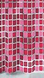 Kleine Wolke 4956453305 Duschvorhang Sonny, 180 x 200 cm, Rubin