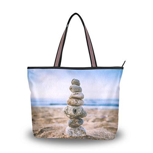 LENNEL niña Bolsa de playa Playa Pila de piedra Mujer Moda Bolso...