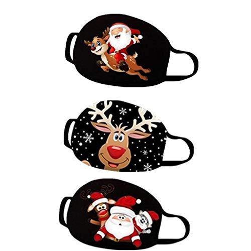 Fenverk Schneemann Schneeflocke Mundschutz Weihnachten Multifunktionstuch Weihnachtsmann Mundnaseschutz Waschbar Wiederverwendbar Staubschutz Cartoon Druck Mund Nasenschutz Atmungsaktiv Bandana