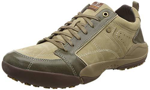 Woodland Men's Khaki Leather Mules-7 UK/India (41 EU) (OGC 1339113)