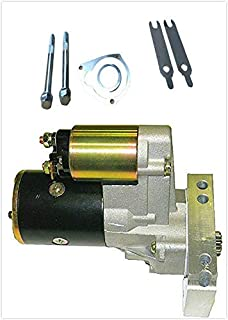 Roadstar 3HP High Torque New Mini Starter 18492 Fit for Chevrolet Chevy SBC BBC 350 400 Dual Inline 153 168 Tooth Black