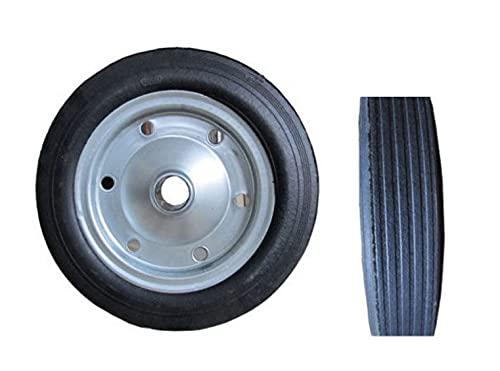 Rueda de goma llena para hormigonera Carros diámetro 35cm orificio 35/43mm