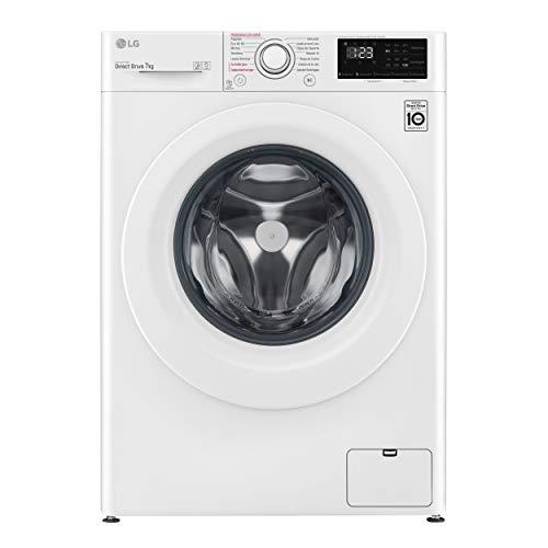 LG Electronics F2WN2S70S3W - Lavadora inteligente, Serie 200 Fondo especial, 7 kg, 1200 RPM, A+++(-20%), color blanco