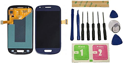 Flügel para Samsung Galaxy S3 Mini i8190 i8200 Pantalla LCD pantalla Azul Táctil digitalizador Asamblea Pantalla ( sin marco ) de Recambio & Herramientas