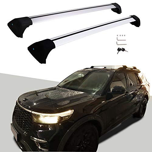 Snailfly Customized for 2020 2021 Ford Explorer Adjustable Cross Bars Roof Racks with Lock