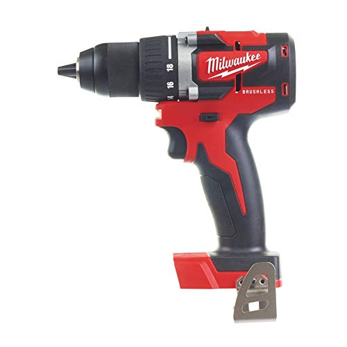 Milwaukee - Taladro atornillador compacto Brushless 18 V sin batería ni cargador 13 mm 60 Nm - M18 CBLDD-0