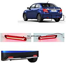 PALAUTOLIGHTS Imported Car Reflector LED Brake Light for Rear/Back Bumper Drl with Wiring for Maruti Suzuki Dzire 2017-201...